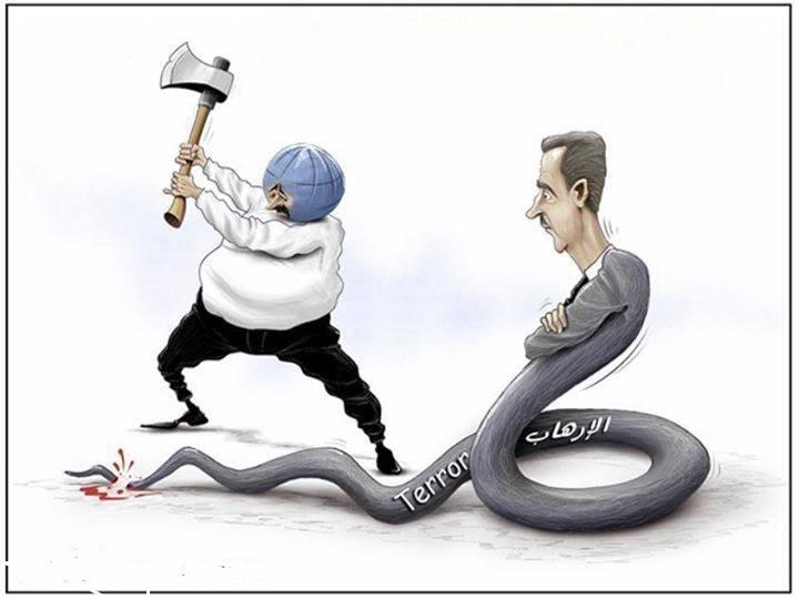 كاريكاتير الثورة السورية - صفحة 5 CHIH2eXUwAALN6E