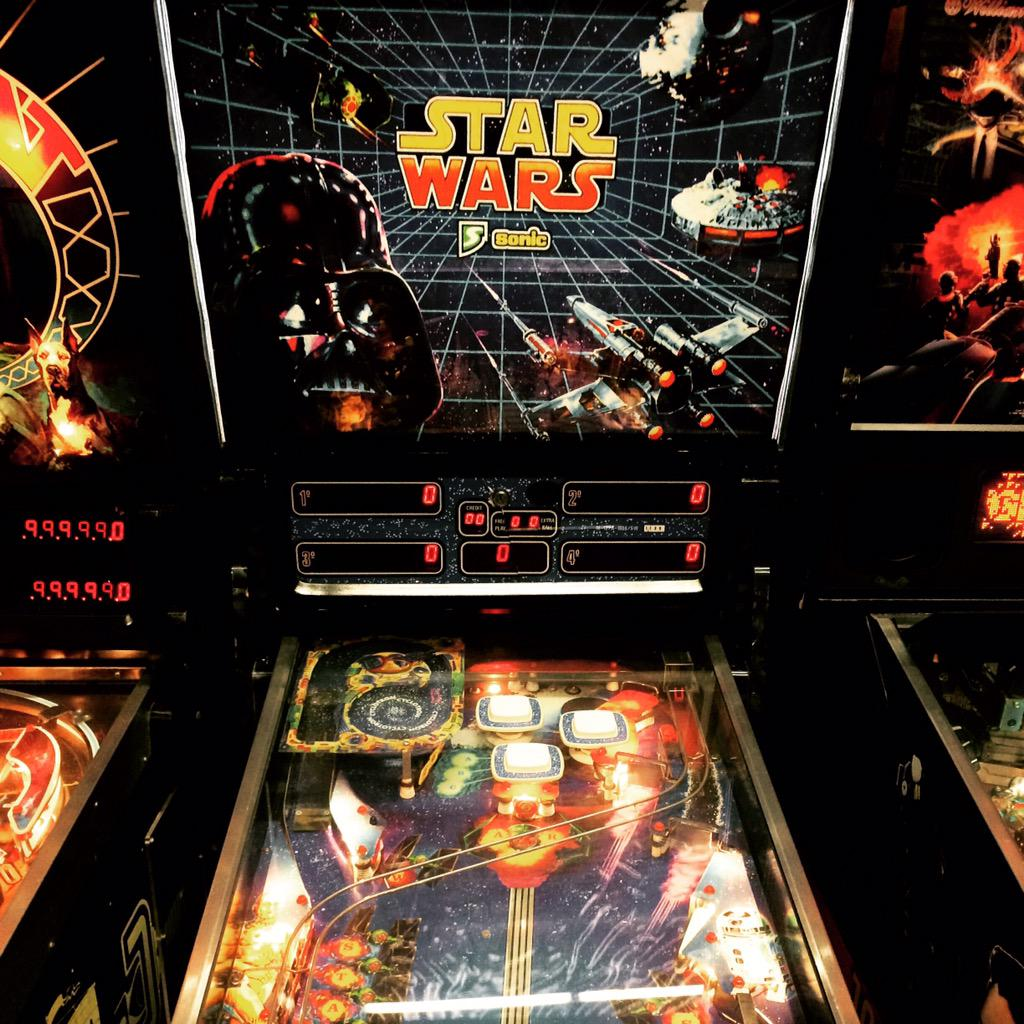 Star Wars Pinball by El Flipper... Actually a great flip but maybe they didn't watch the movie? Wtf is the Cyclotron?