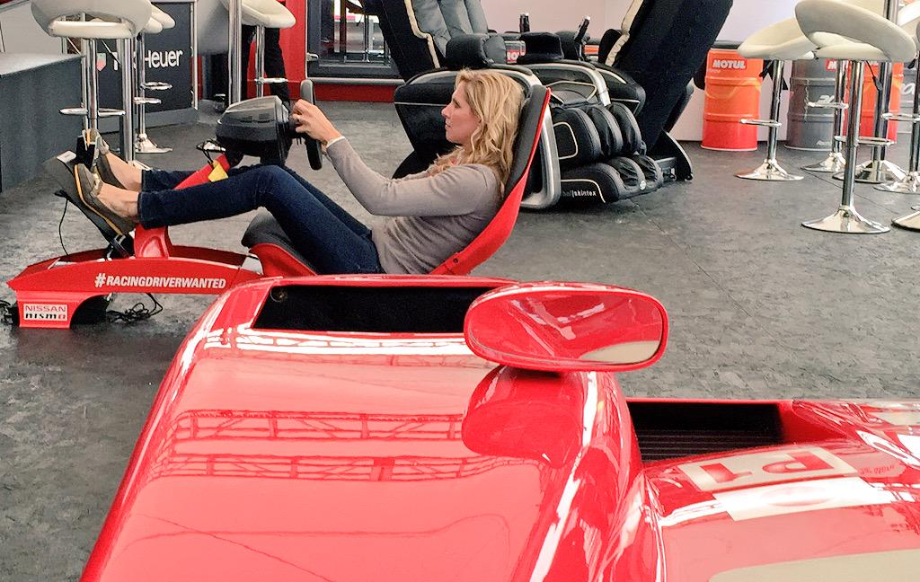 "That's #LeMans24Mins pit reporter @lizhalliday monstering the @NISMO sim ""it's easier in the real thing"" she says... http://t.co/nqo4OnTwYJ"