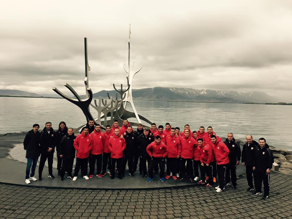 The U21 team in Iceland; photo: FFM
