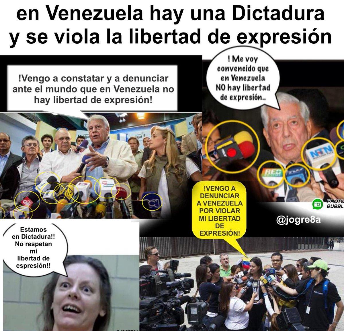 En Venezuela hay Dictadura  y se viola la libertad de expresión #NoMas...