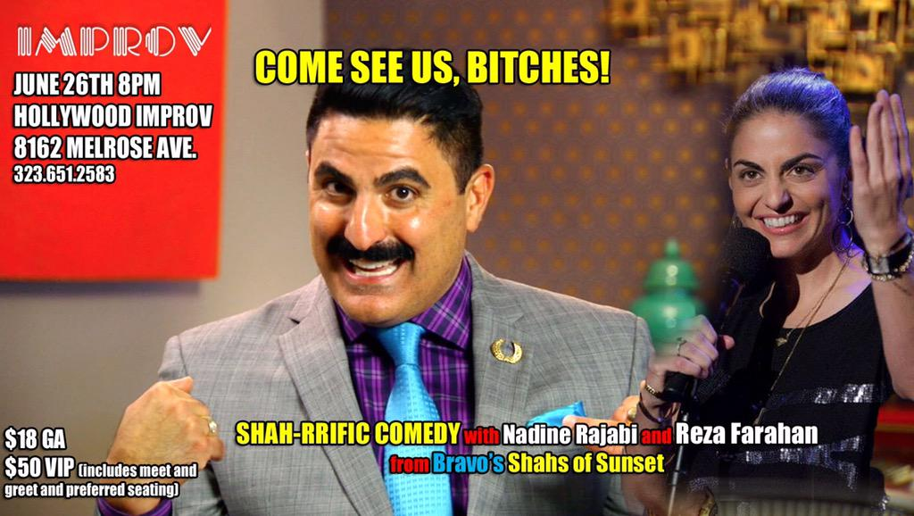 June 26th, the Improv… My favorite @nadinerajabi is doing stand up, and stuff. Go, drink, meet, laugh, then go home http://t.co/65WeSdHnTV