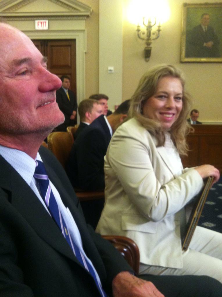 Bob Schlichte and Patty Sagert listing to testimony at ACA hearing. @TwinWestChamber #iamsmallbiz http://t.co/gNrisiobmO