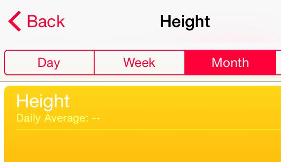 Apple's Health app continues to amaze. Track your daily average height! #facepalm http://t.co/3nTqjdXwP7