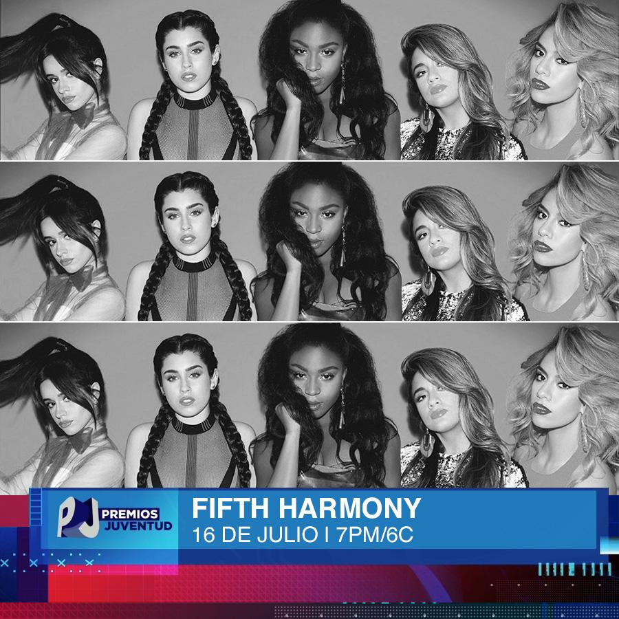 Calling all #Harmonizers! @FifthHarmony is coming to #PremiosJuventud for the 1st time!! RT to welcome them! http://t.co/s85khb2xMa