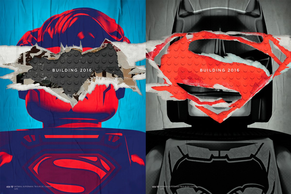 Here's What Those 'Batman V Superman' Posters Look Like In LEGO Form