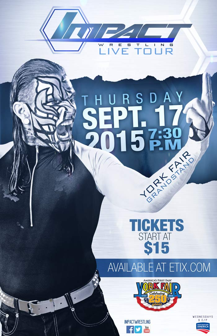 Tickets for the @IMPACTWRESTLING event at the #YorkFair are now on sale. http://t.co/tZPEDkO4Ck