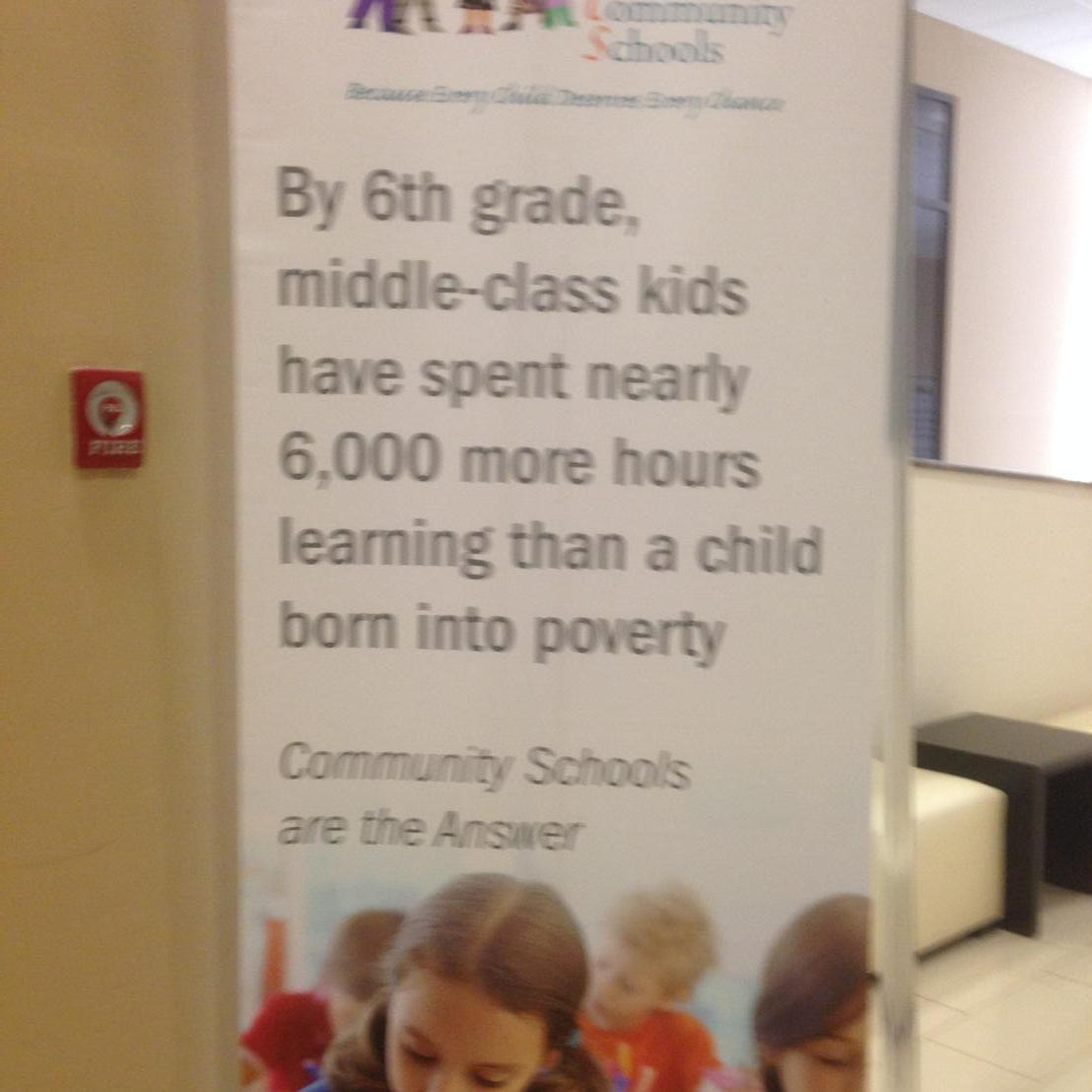 The reason we need to advocate #communityschools http://t.co/CZy9UKLlFl