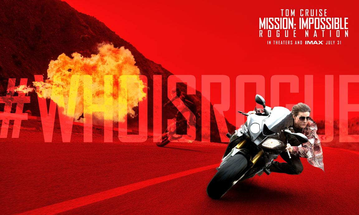 Every damn day is a mission. Are you rogue? #WhoIsRogue #MissionImpossible http://t.co/xRqP5cSKE0