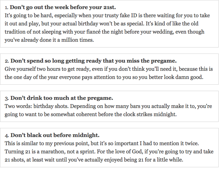 TSM on Twitter 21 Things Not To Do On Your 21st Birthday http