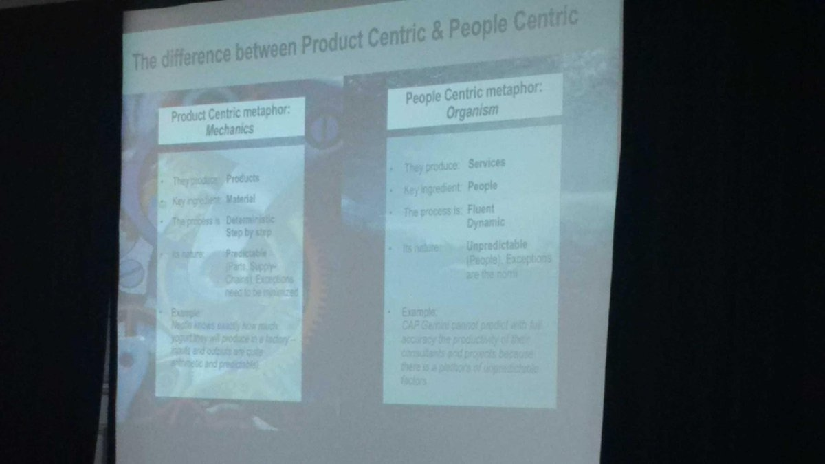 The classic debate - product vs people centric - @Unit4 goes people centric #Unit4infocus http://t.co/Y7vWrjFGU0