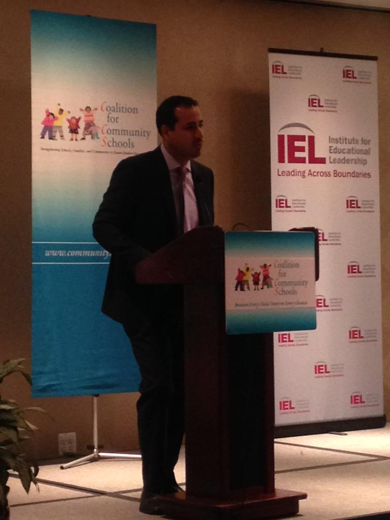 It is #communityschools at the forefront of our work to improve equity in schools & communities -Roberto Rodriguez http://t.co/f4WYgzqwXA