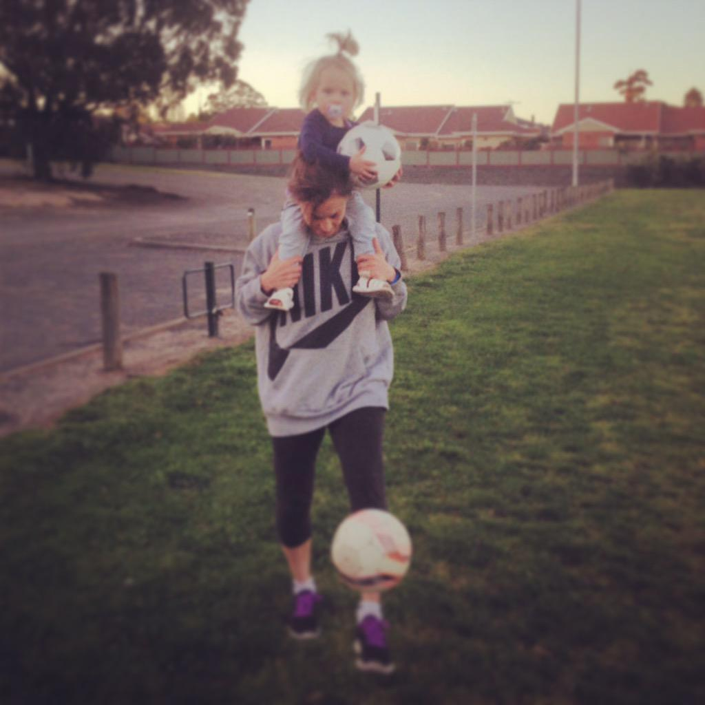 Being a Mum & a pro footballer takes support, patience but above all... A passion to #LiveYourGoals  #FIFAWWC #AUS http://t.co/PHXyvbdPjH