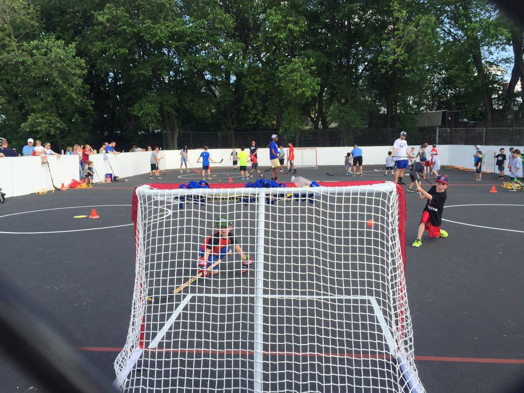 Hello From Garvey Park In Dorchester On Hand To Help Reveal A Newly Renovated Street Hockey Rink Cs