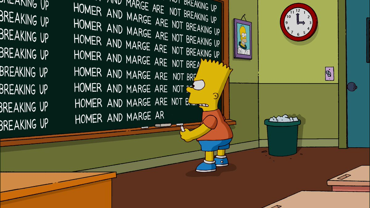 Homer and Marge Simpson address divorce rumours