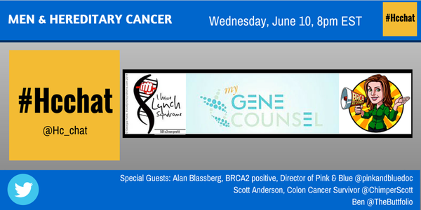 Thumbnail for #Hcchat Transcript 6/10/15                                     MEN & HEREDITARY CANCER