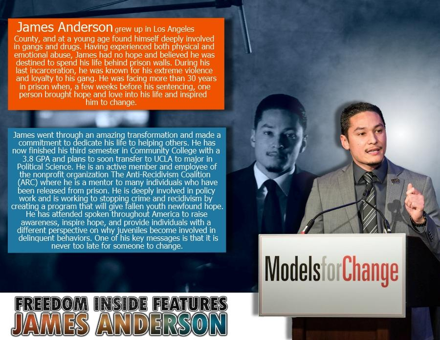 #FreedomInsideProject Features James Anderson @OfficiallyJPA #FormallyIncarcerated now Program Admin. @AntiRecidivism