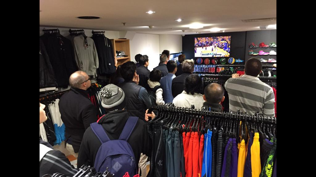 1b1ce7294 Fans at the popular Kickz101 basketball and apparel store in Melbourne