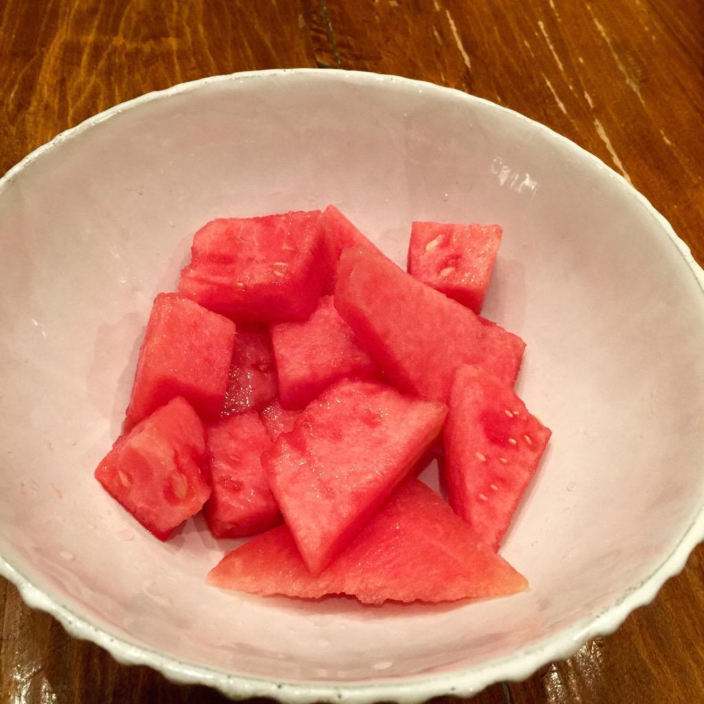 """Watermelon is like juice with texture."" @jtillathekilla2 (No truer words have been spoken.) http://t.co/X01Xz9KZR2"