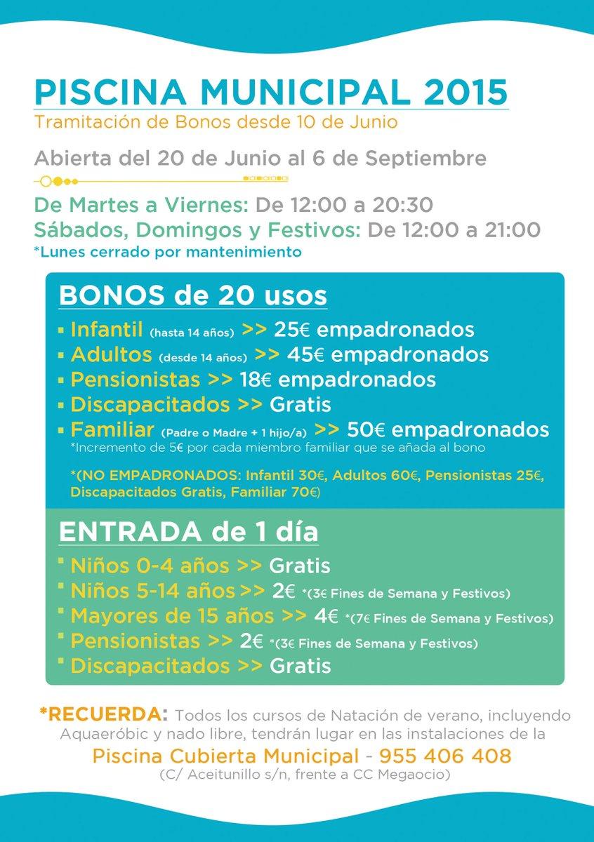 Del deportesbormujos bormujossemueve twitter for Piscina municipal bormujos