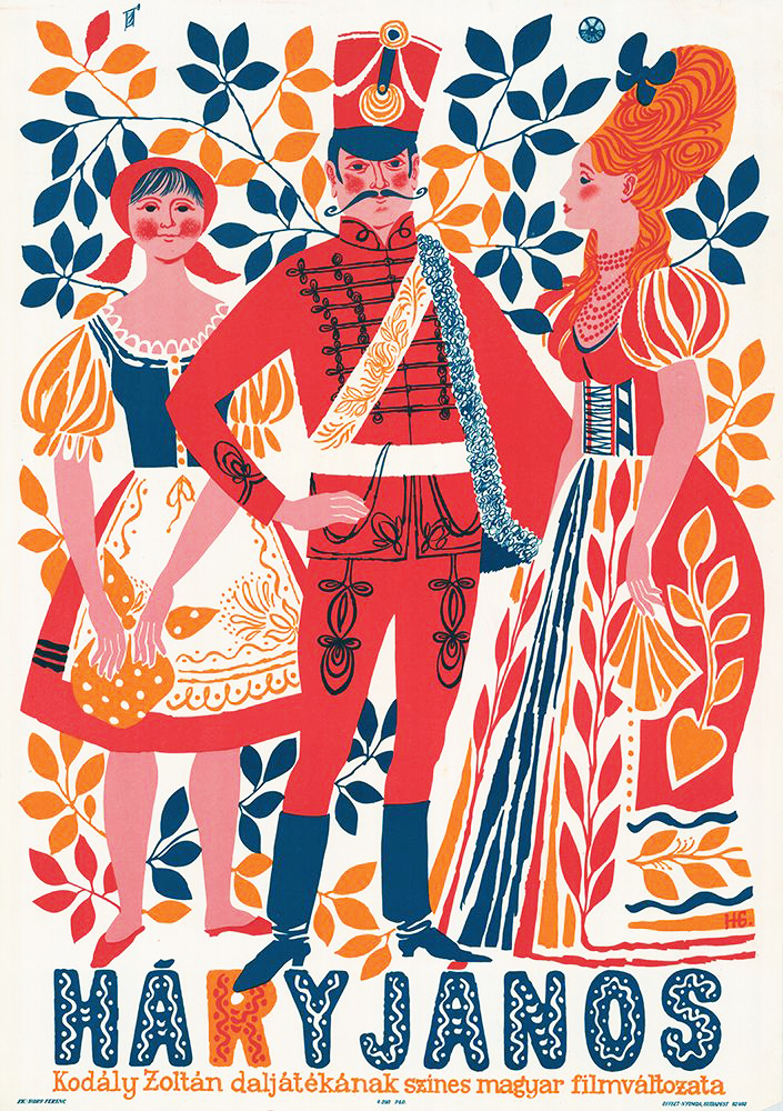 Todays rummage into the archives. I found this old Hungarian folk opera poster. Beautiful colour palette and style. http://t.co/LV2vSSdSlV