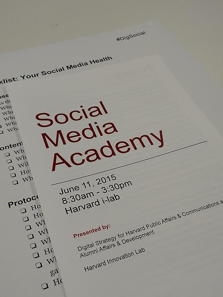 Thumbnail for Harvard Social Media Academy: @Sree's Talk, Storified