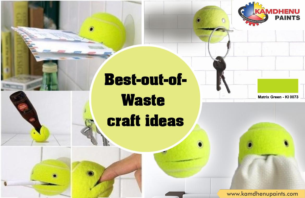 Kamdhenu paints on twitter best out of waste craft for Best from waste material