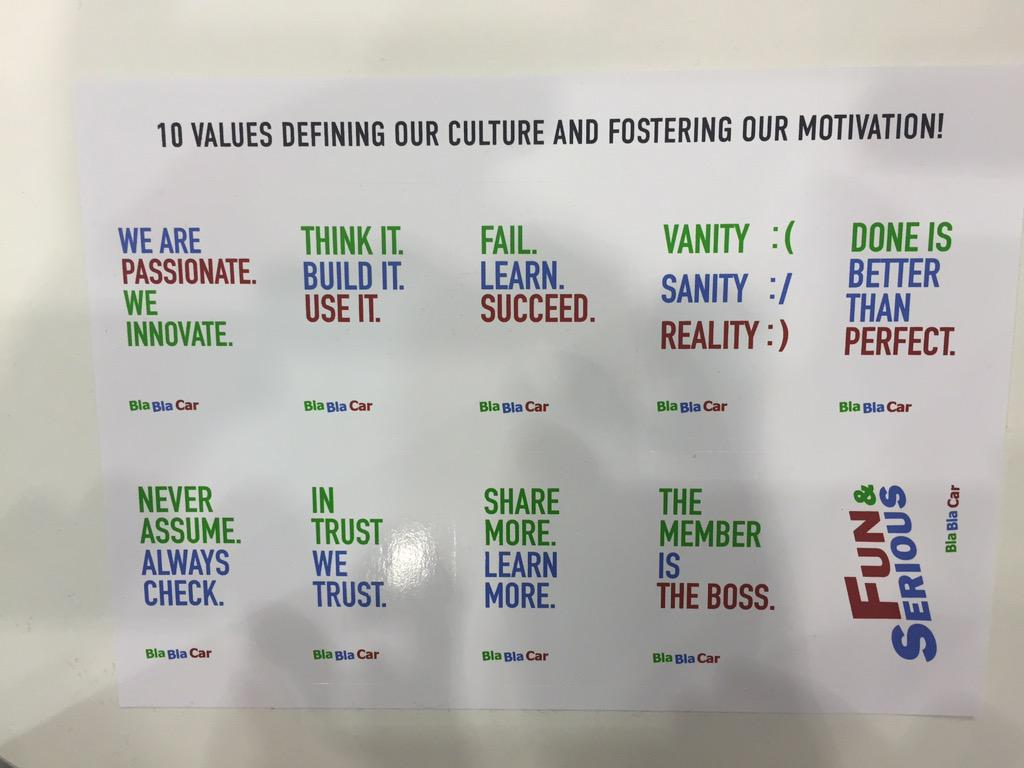 Congrats to @BlaBlaCarTech Recruiting at #infoshare putting culture first. That's how you do it. http://t.co/RZRi3fQEGw