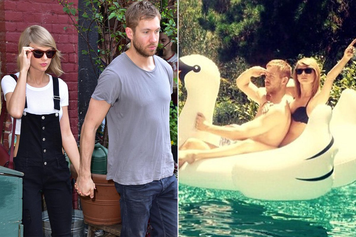 Taylor swift and calvin harris are instagram official ...