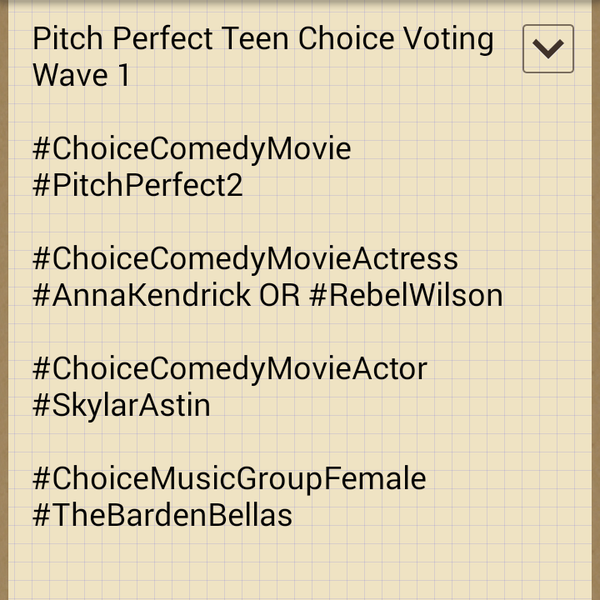 My vote for #ChoiceComedyMovieActress goes to #AnnaKendrick! http://t.co/dFZTU1GzT2
