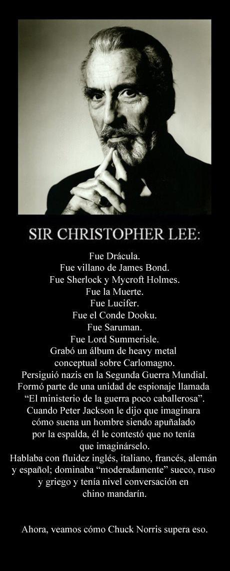Sorprendentemente, el meme sobre la increíble vida de Christopher Lee es cierto http://t.co/x37XNh2VPJ http://t.co/m4dDGpaPCi
