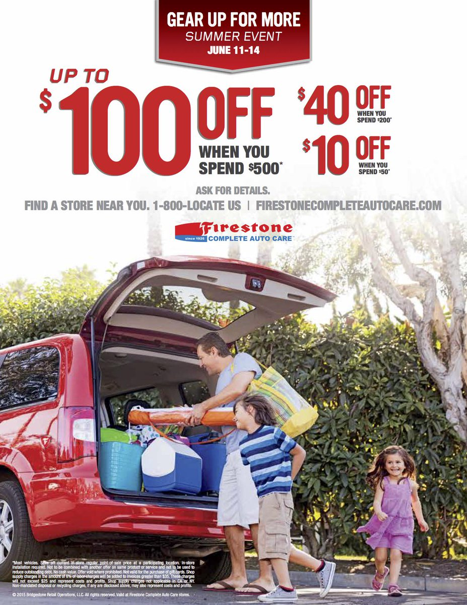 Firestone Complete Auto Care On Twitter Gear Up For More Book An