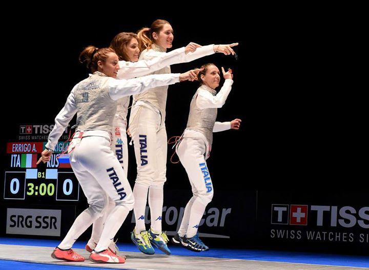 FOTO Europei di Montreux: medaglia d'oro al Dream Team di fioretto femminile