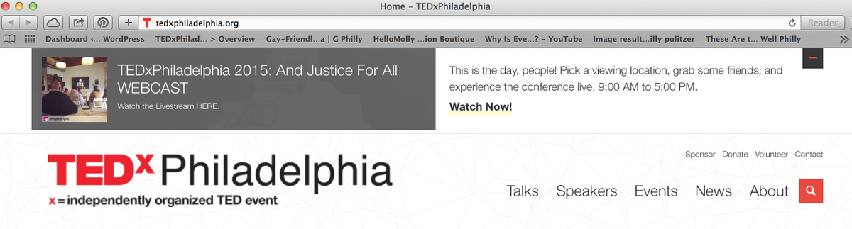 The best place to access #TEDxPHL15's livestream? Right on our amazing website by @happycog, http://t.co/4bOGa0ecPc! http://t.co/e0mPXqMwLn