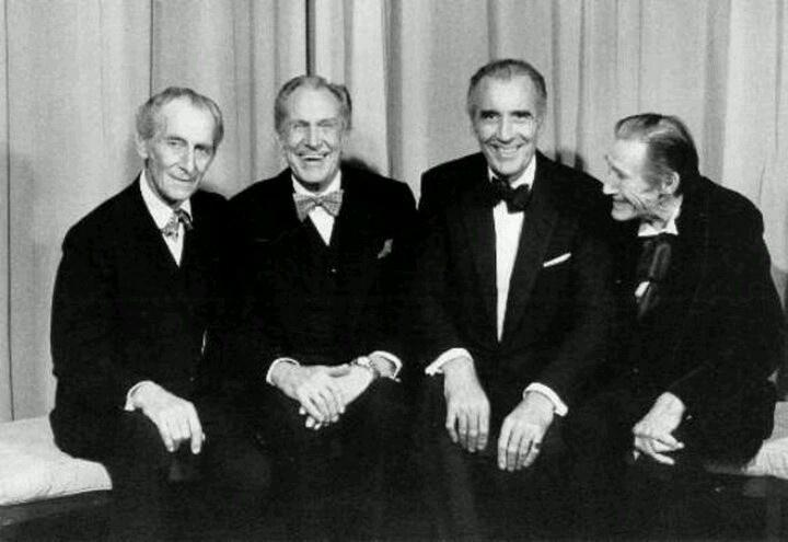 Somewhere in the Great Beyond, 'The House of Long Shadows' is having one heck of a reunion...RIP Sir Christopher Lee. http://t.co/dXw5Xsrh0m