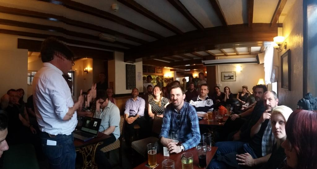 Here in @TheFurnaceInn for @GeekeasyDerby and we're going back to the future,so to speak.@g105b whats with your mush? http://t.co/POhykXoWhz
