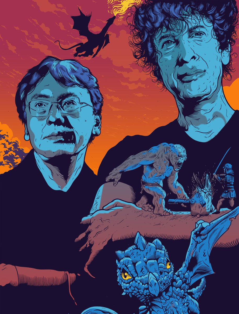 """Let's talk about genre"": @neilhimself and Kazuo Ishiguro in conversation @NewStatesman http://t.co/UryF2dyIa3 http://t.co/cRnctBlbTD"