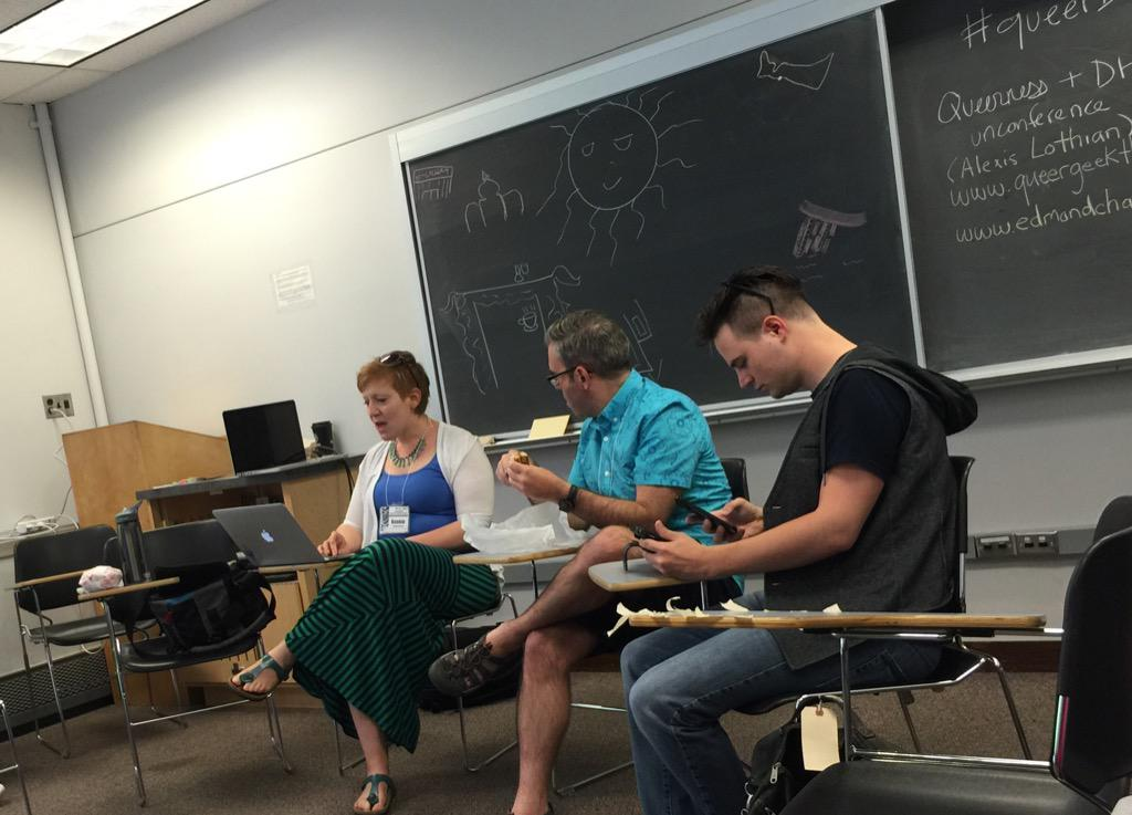 "#queerDH #dhsi2015 ""what's your preferred pronoun"" @MyOwnVelouria http://t.co/07iLKHQpd7"