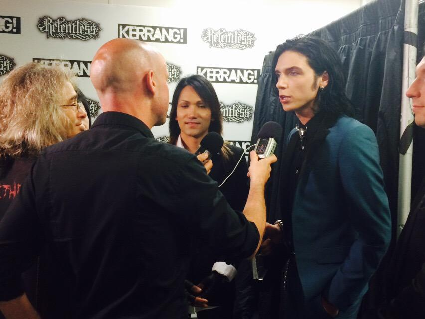 Media run with @blackveilbrides @AndyBVB @AshleyPurdy #RelentlessKerrangAwards http://t.co/9Wk1dQ3Rqp