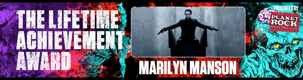 The Pale Emperor @marilynmanson receives The Lifetime Achievement Award! #RelentlessKerrangAwards http://t.co/UhHEAq8d9P