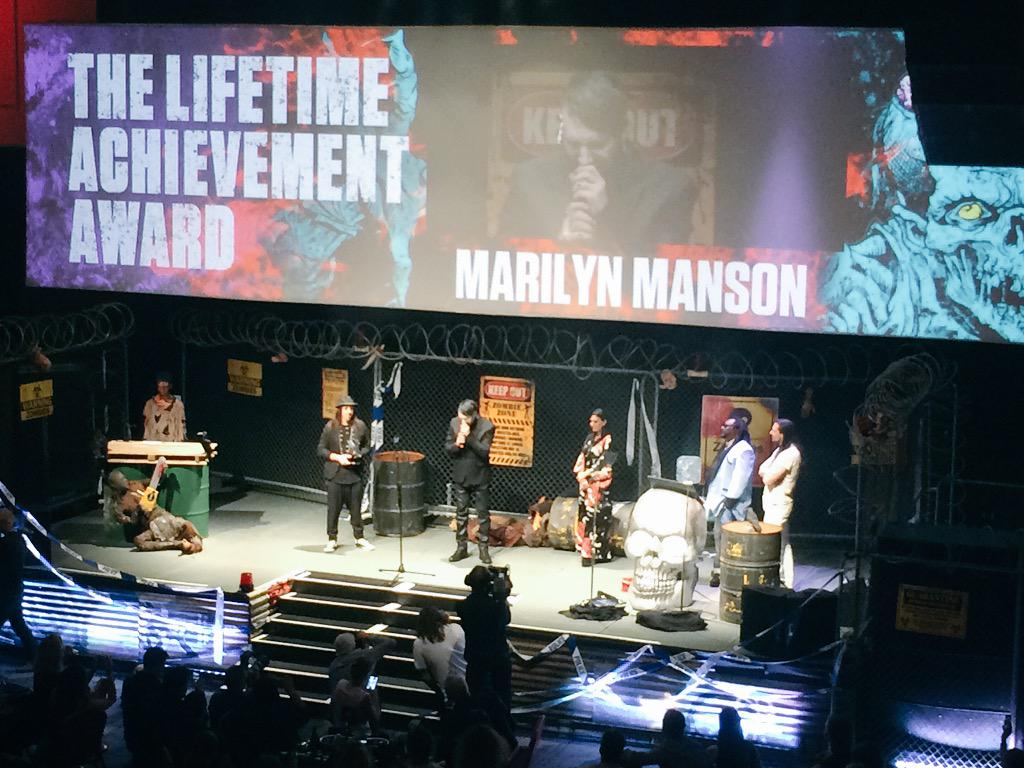 The one and only... @marilynmanson #RelentlessKerrangAwards http://t.co/pfUBD8vM1G