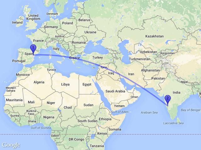 Teruel Spain Map.Random Distance On Twitter The Distance Between 44559 Ejulve