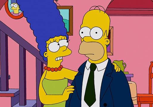Marge e Homer Simpson