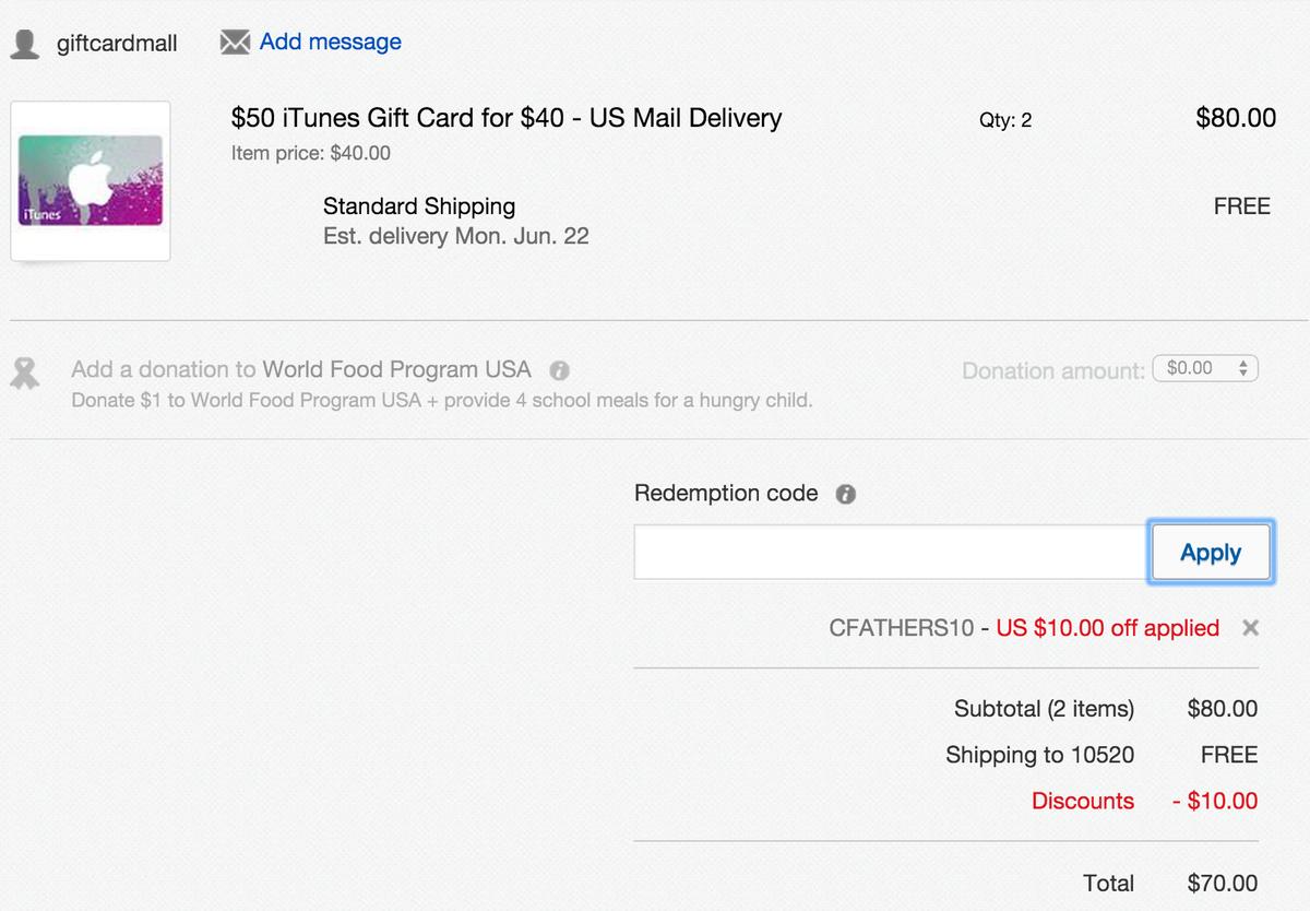 iTunes Card Deals on Twitter: