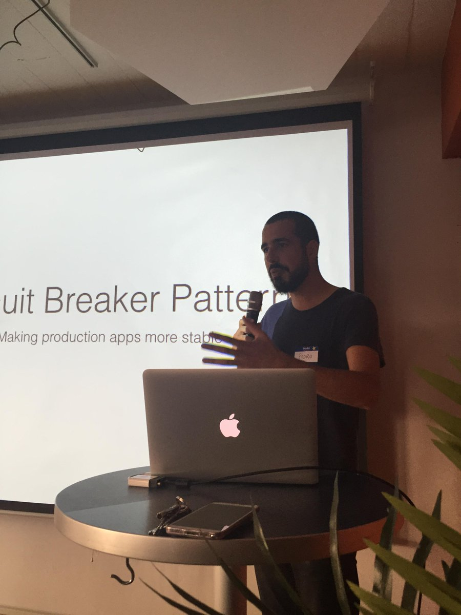 Awesome Circuit Breakers talk by @ped from @heroku at #doximityTechSF event. http://t.co/HuOff64gdQ