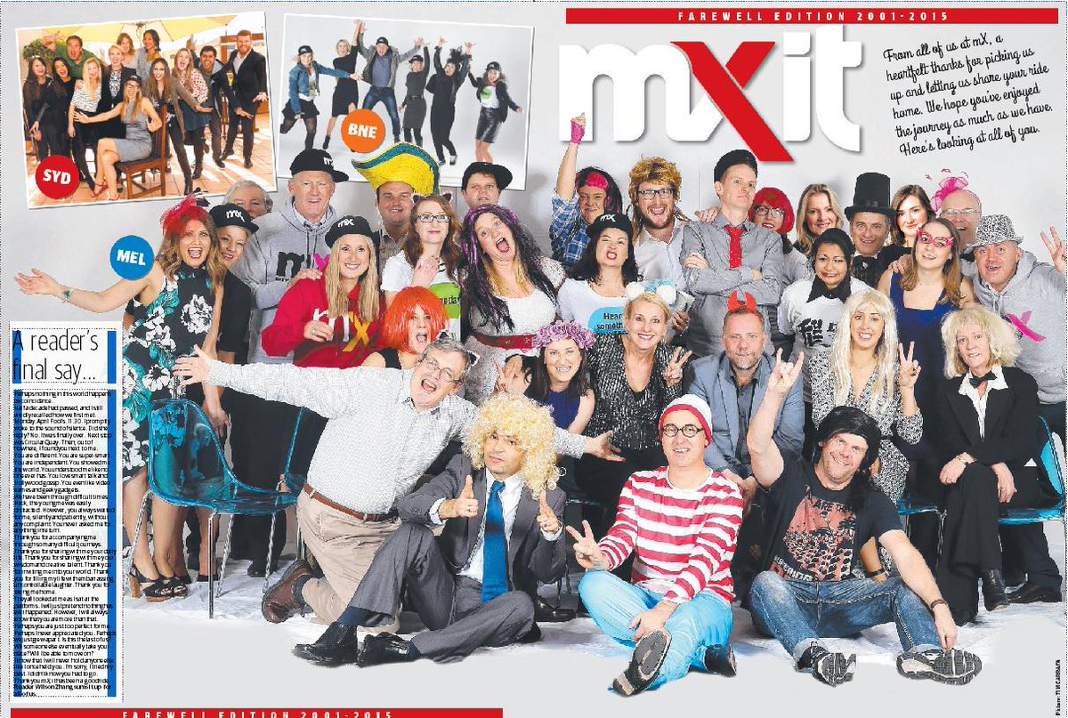 FAREWELL mXers, you've served us well. Sneak preview of today's cover... #YOLO #FOMO and all that jazz... http://t.co/4yhuARW1Vs