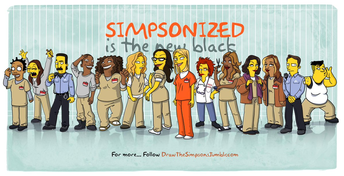 Orange Is The New Black family #Simpsonized -> http://t.co/AKmlO7fETs / @NetflixBeFR @netflix @oitnb