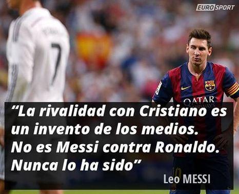 La Pulga Las Vegas >> Leo Messi: La frase del día nos la deja Leo Messi, que habla sobre Cristiano ...