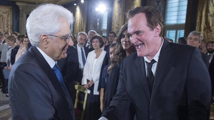 FOTO Mattarella incontra Quentin Tarantino al David di Donatello