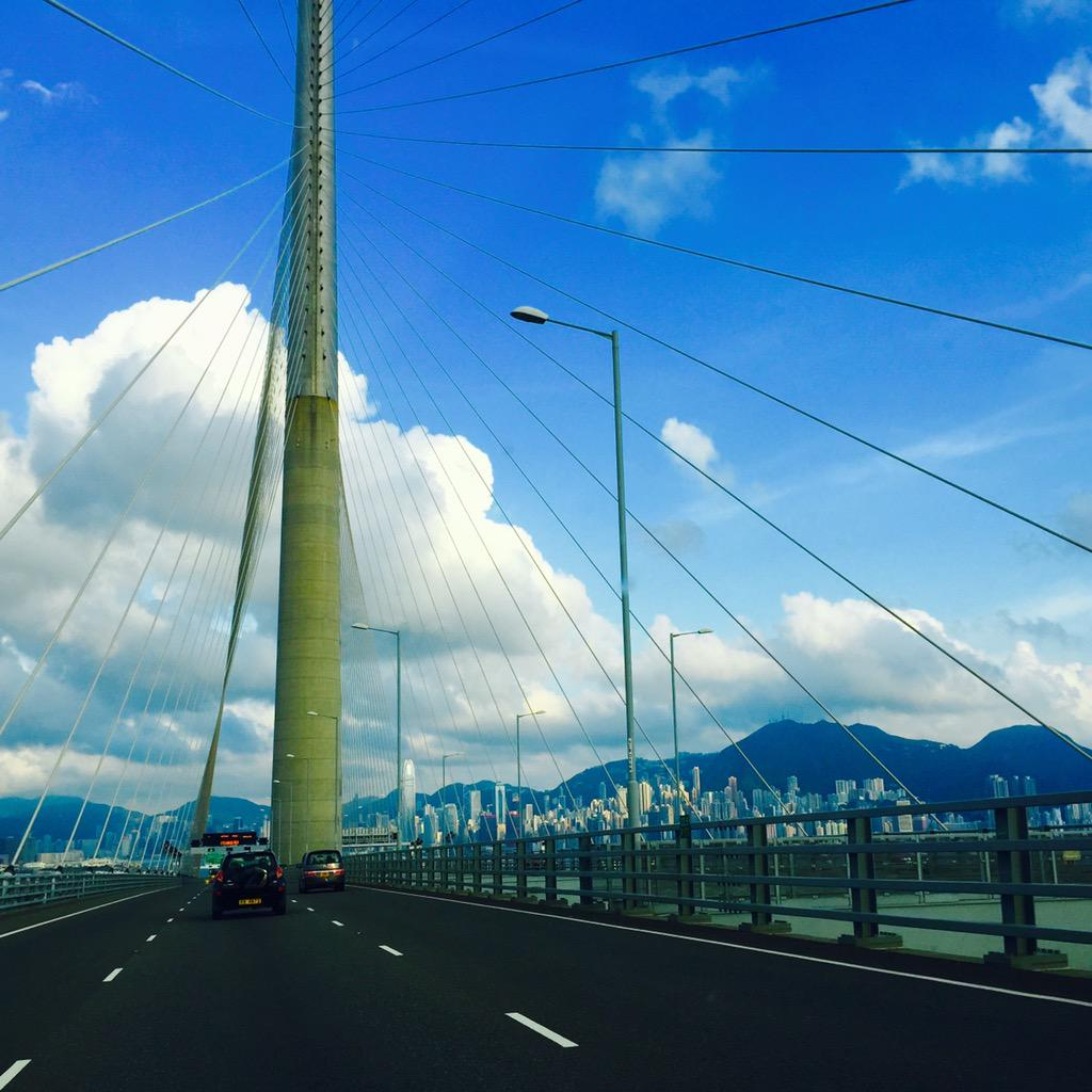 Hello #HongKong - the #road in from the # airport - mountains 'n 'scrapers #FriFotos @CharlesYap @EpsteinTravels http://t.co/DluzCpH6Ml